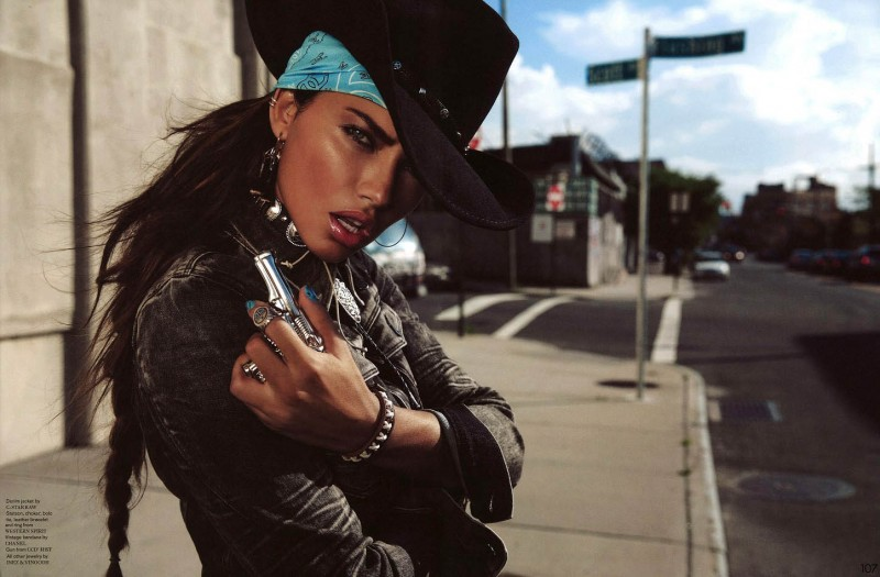 Fall Farm Wallpaper Adriana Lima Wows In Western Style For Garage Shoot By