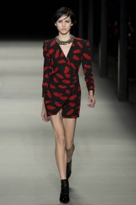 Image: Lip Print Dress at Saint Laurent's spring 2014 runway show