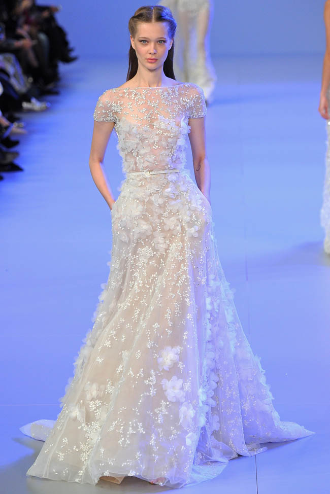 Elie saab haute couture spring summer 2014 for Haute wedding