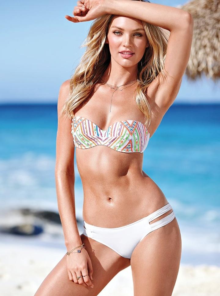 Russian Girl Swimsuit Wallpaper Candice Swanepoel Models Bikinis In Victoria S Secret Shoot