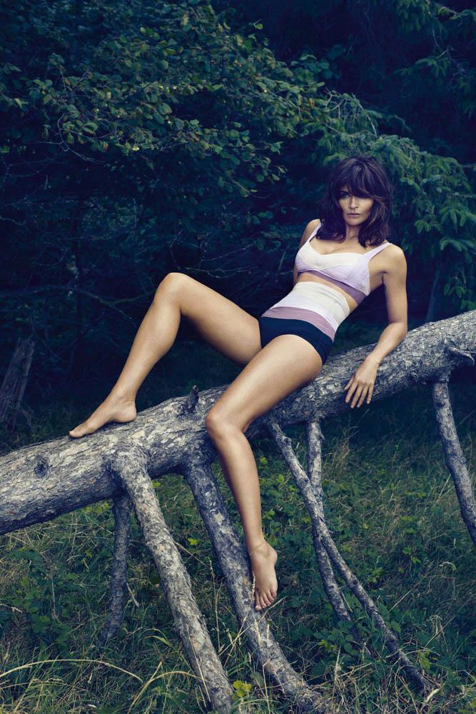 Bridal Wallpaper Hd Helena Christensen Models Triumph Spring 2014 Lingerie