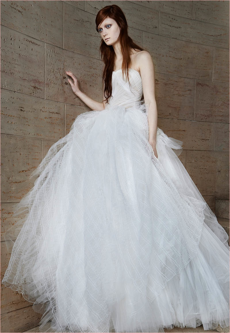 Vera wang bridal spring 2015 wedding dresses for Best vera wang wedding dresses