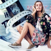 Frida Aasen Models Playful Prints for H&M