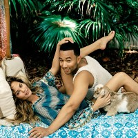 Chrissy Teigen + John Legend Get Romantic for DuJour Cover Story
