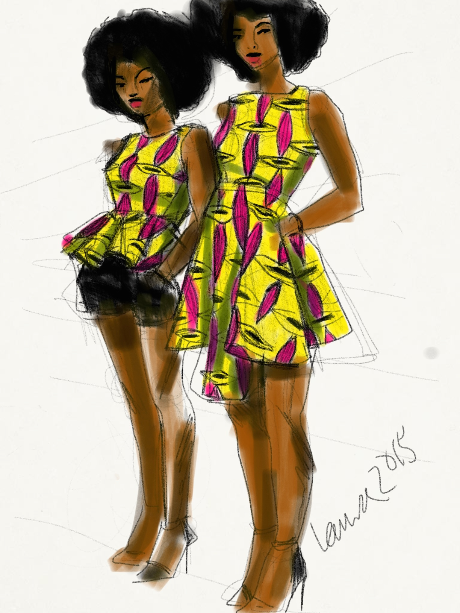 cv american model illustrator
