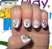 12 Cute Back To School Nail Art Designs | Fashionisers