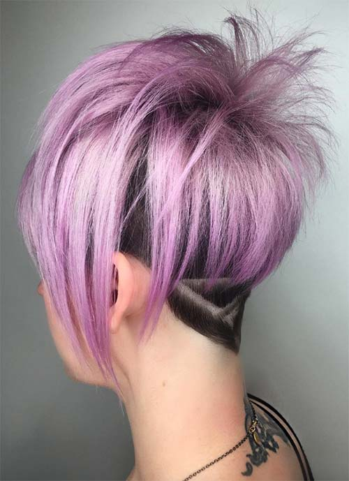 Short Hairstyles For Women Geometric Undercut