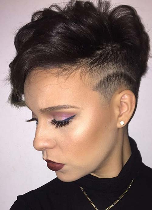 Short Hairstyles For Women Undercut Pixie