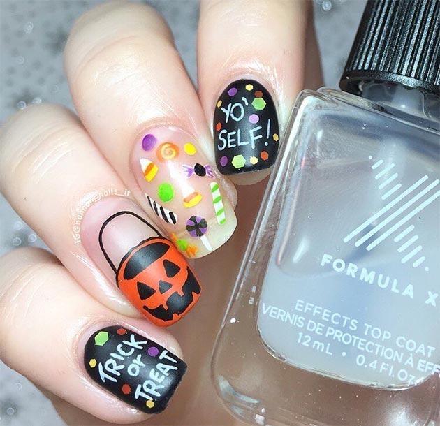 50 Awe-Inspiring Halloween Nail Art Designs Fashionisers©