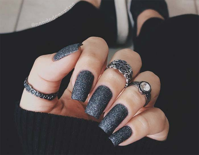 Silver Sparkle Nails Wwwpicswecom