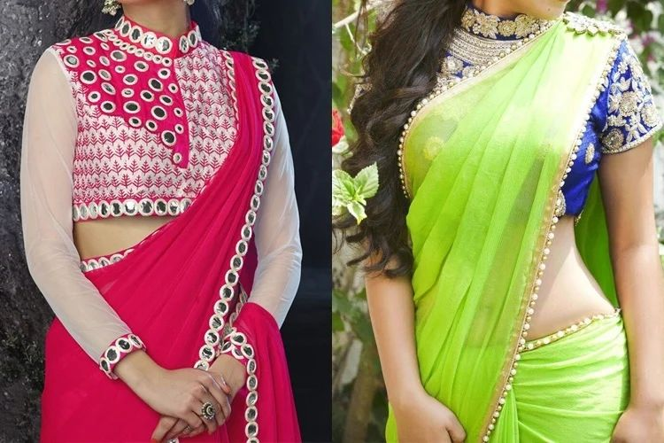 Gallery for gt plain saree with border designs