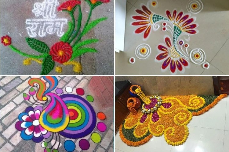 Welcome 2019 With New Year Rangoli Designs