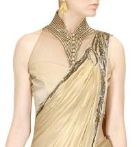 Plain Saree with Designer Blouse Ideas