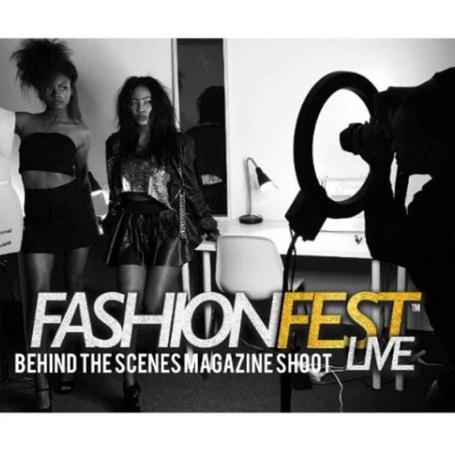 Behind the scene photo shoot for fashion Fest Live Magazine2hellip