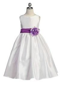 Flower Girl Dresses In Purple And White - Junoir ...