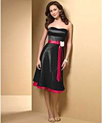 Black and Red Bridesmaid Dress - Fashion Show ON