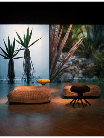 Ceci Arango Cococora stools and cucarachero poufs. Monika Bravo Video Urumo