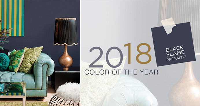 Ppg 2018 color of the year ppg1043 7 black flame