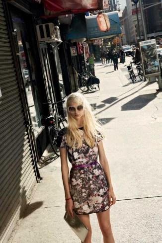 Willa Dress in Brooklyn Botanical, Ilyn Belt, Janet Clutch