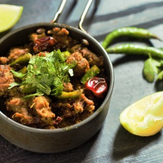Mutton Sukka Recipe or the Mutton Sukka Varuval. A delicious and amazingly spiced mutton fry recipe made with freshly ground spices and lamb meat.