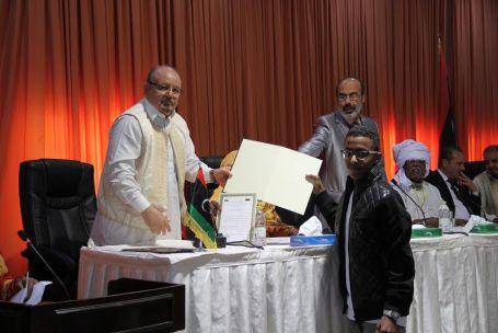 هيئة الأساتذة السودانيين بجامعة الزاوية تحتفل بالذكرى الستين لاستقلال جمهورية السودان بصبراتة 66