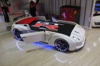 Brilliant GT Racer White Kids Car Bed
