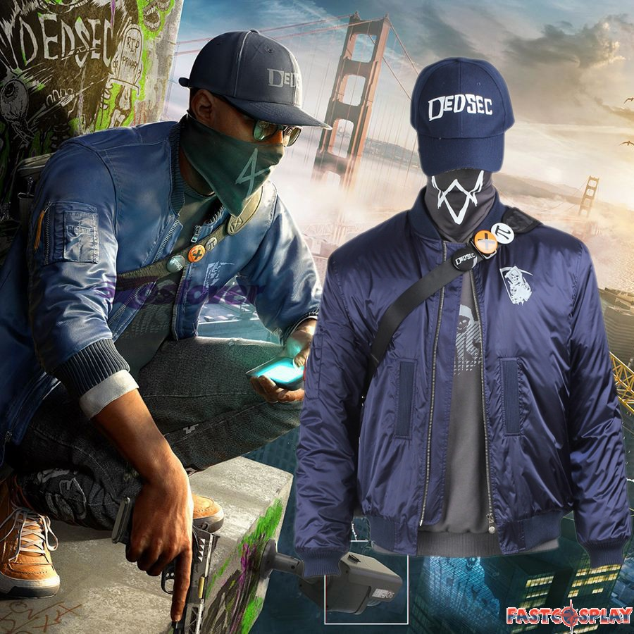 Watch Dogs 2 Marcus Holloway Cosplay Costume Full Set