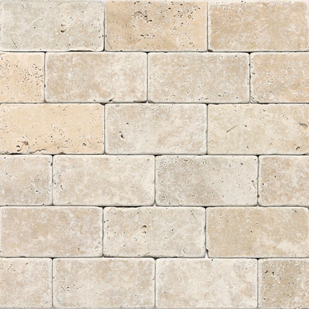 Travertine Subway Tile Daltile Travertine Natural Stone Tumbled 3 x 6 Tile & Stone Colors