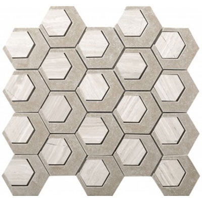 Emser Tile Catalyst Stone With Cast Stone Mosaic Oxygen