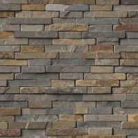 MS International Slate and Quartzite Mosaic 3D Rustique