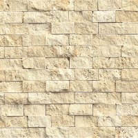 Tilecrest Travertine Stone Eclipse Split Face Mosaic ...