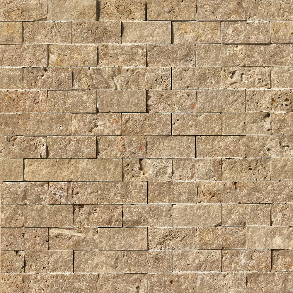 Tilecrest Travertine Stone Eclipse Split Face Mosaic Tile