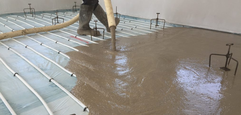 We Can Install Our Screed With The Commissioned Ufh System