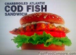 Carl's Jr Charbroiled Atlantic Cod Fish Sandwich