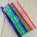 Multi-farve Plastic hæklenåle  9 stk / sæt