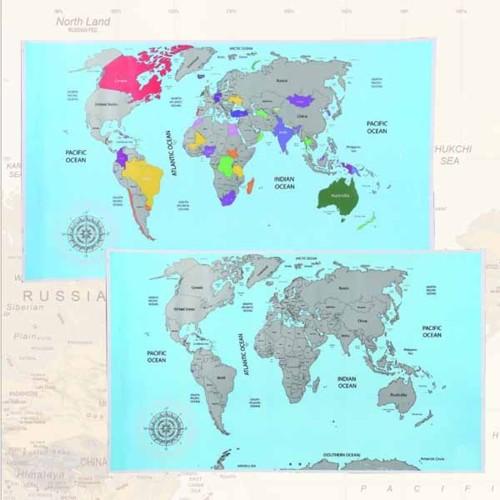 Cancelleria, Cartolleria - fastworldshopping - MAPPAMONDO DA - cartina mondo