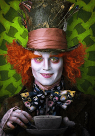 Johnny Depp stars at the Mad Hatter