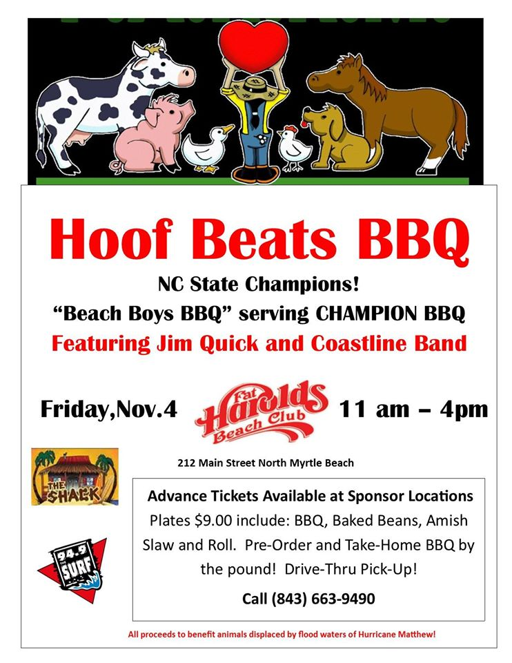 bbq-nov-4 Fat Harolds Beach Club - bbq benefit flyers