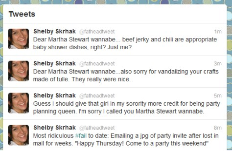 baby shower tweets My Personal Fail Whale
