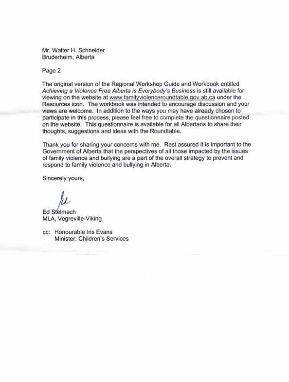 business letter format header second page