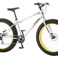 "Mongoose Men's Malus Fat Tire Bicycle with 26"" Wheels, Silver, 18""/Medium"