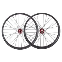 ICAN 26er Fat Tire Clincher Tubeless Ready Carbon Wheelset 32 Holes Powerway Hub Front 15*135/150mm Rear 12*170/190/197mm