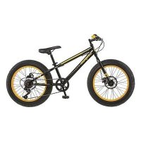 "New Mongoose Boy's Fat Tire Massif Mountain Bike - Black/Yellow (20"")- PUNPUN Store"