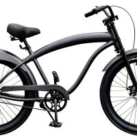 Fito Men's Modena GT Aluminum Alloy 1-Speed 3-Inch Wide Tire Disk Brake Beach Cruiser Bike