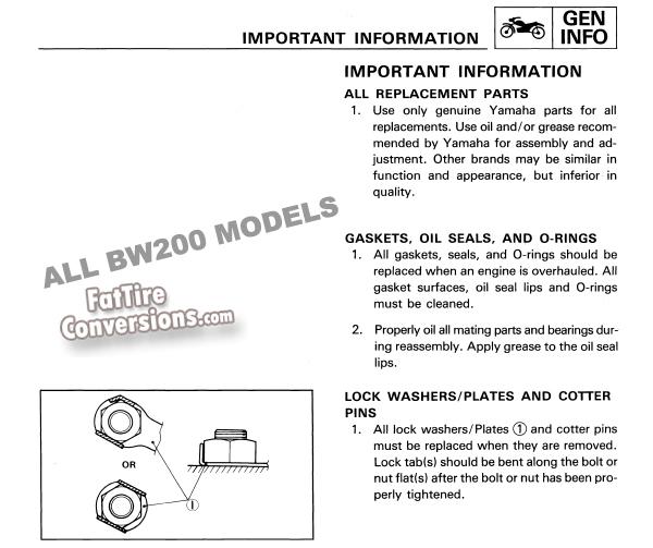 FatTireConversion - 603-225-2779 x 254 - Yamaha BW200 service