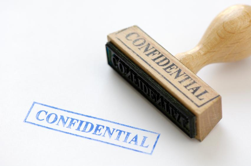 staff confidentiality