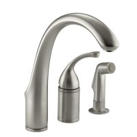 Kohler K-10430-BN Forte Single Lever Handle Kitchen Faucet ...