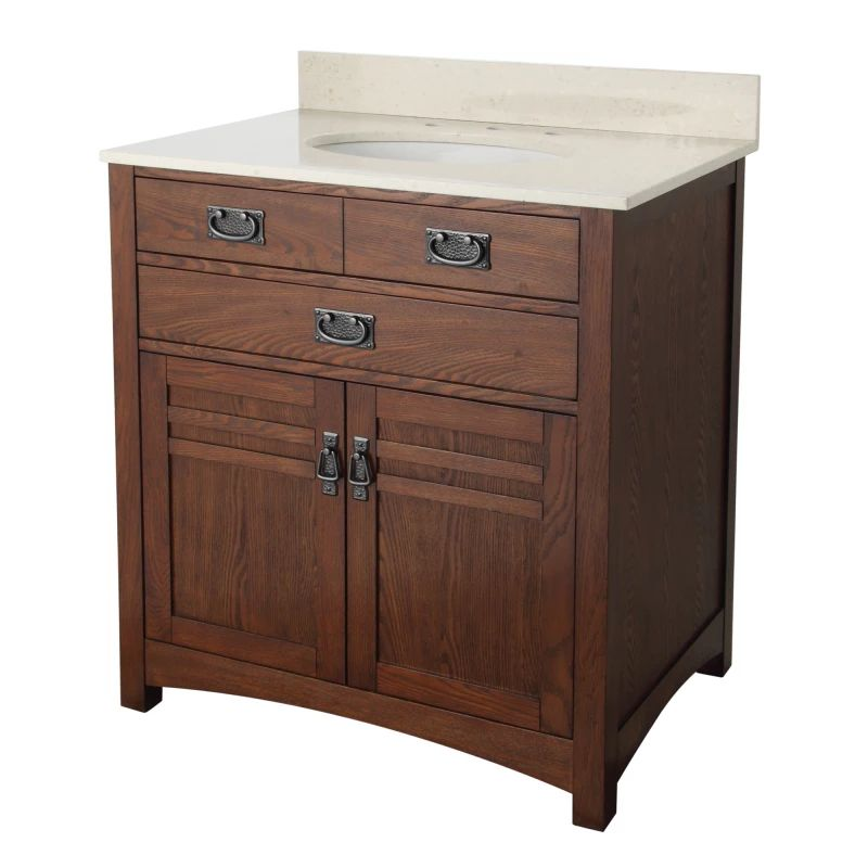 Foremost crcvt3122 cherry cornell 30 quot bathroom vanity with