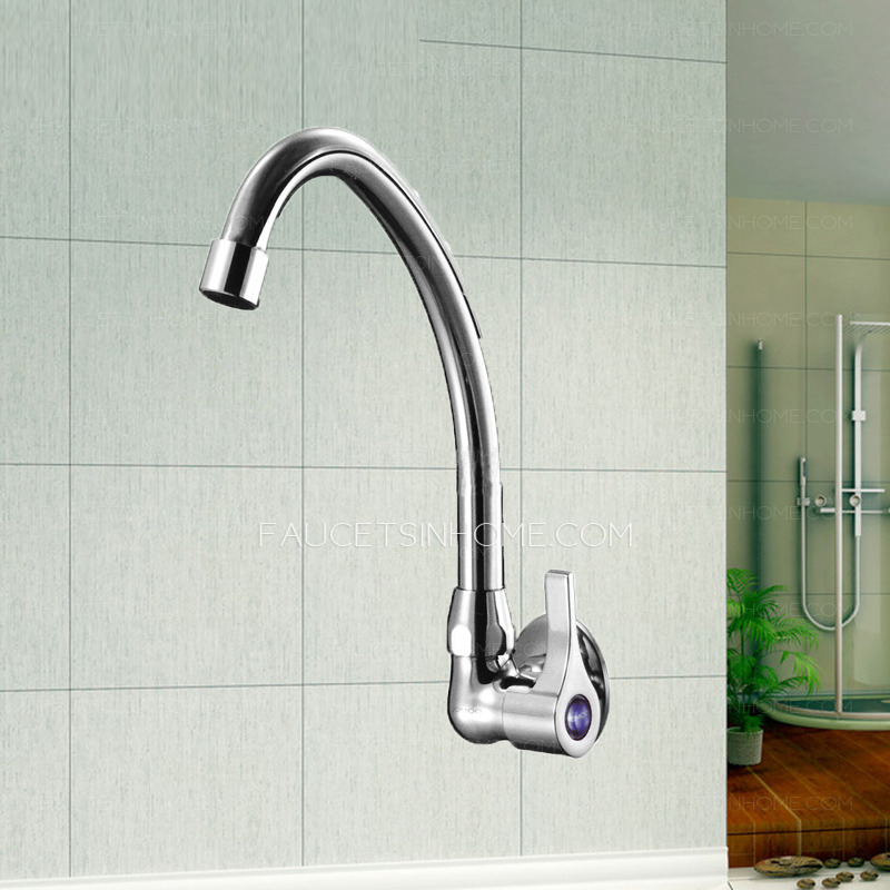 Discount Brass Fast Flow Clod Water Wall Mounted Kitchen Faucet - wall mount kitchen faucet