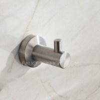 Modern Brushed Nickel Stainless Steel 5-piece Bathroom ...